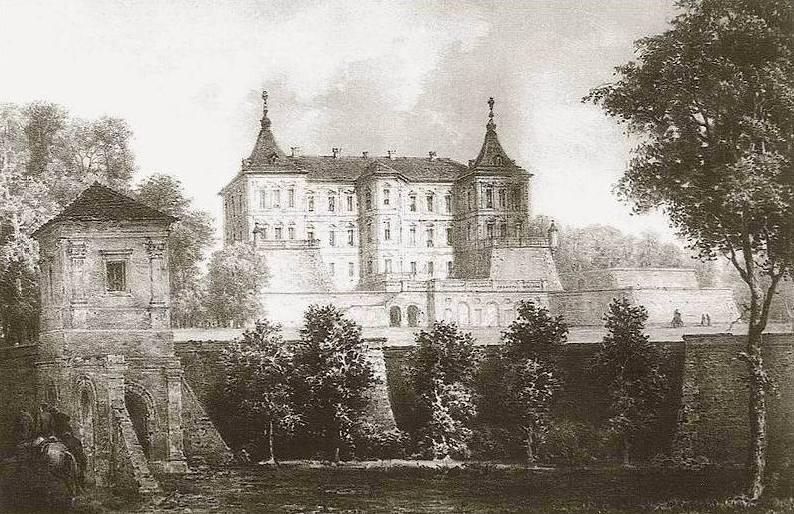 Підгорецький замок у 19 ст.