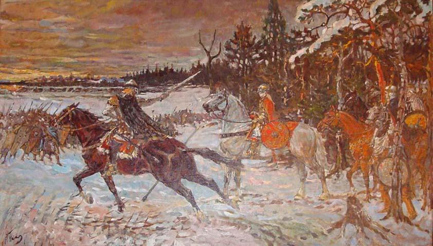 Перший бій князя Святослава
