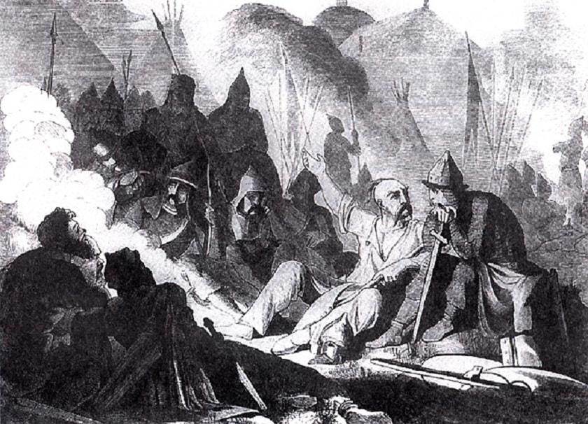 Військова нарада князя Святослава