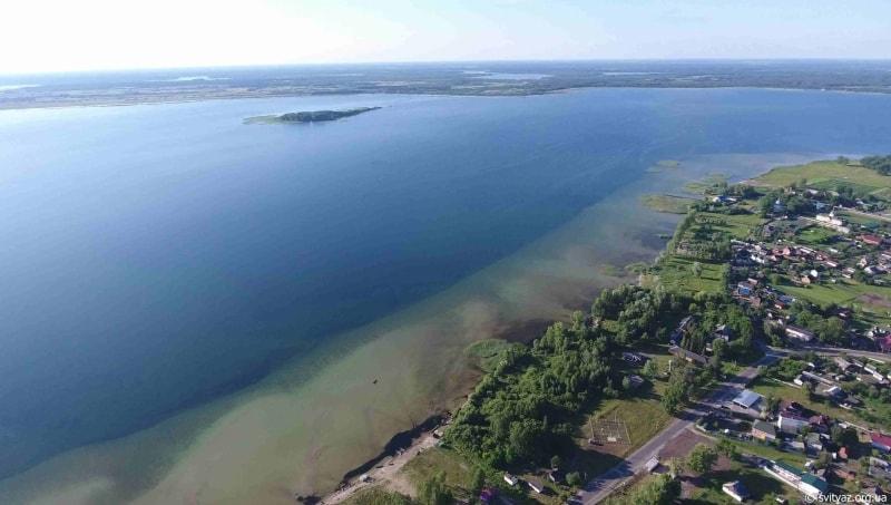 Озеро Світязь з висоти пташиного польоту