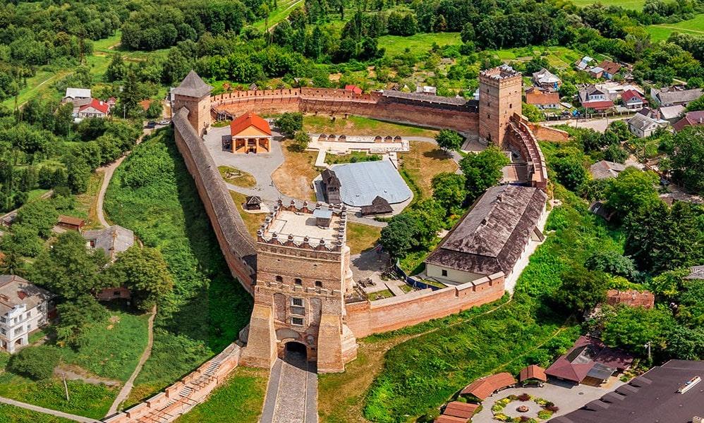 Луцький замок з висоти пташиного польту