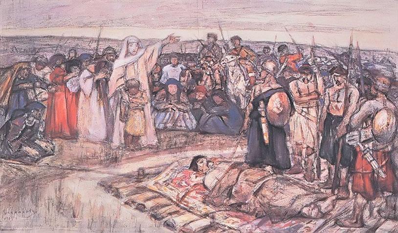 Ольга зістрічає тіло князя Ігоря