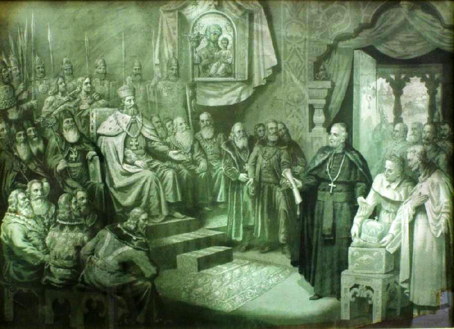 Коронація Данила Галицького 1253 року Папою Римським Інокентієм IV